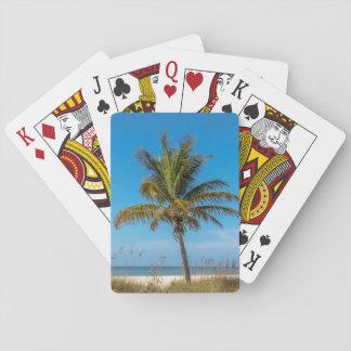 Baralho Cartões de jogo da praia do palmtree de Florida