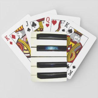 Baralho Cartões de jogo das chaves do piano