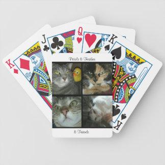 Baralho Cartões de jogo das pétalas & da pena & dos amigos