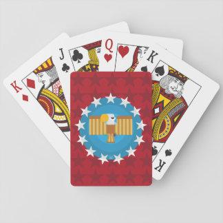 Baralho Cartões de jogo de Eagle da liberdade (vermelho) -