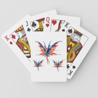 Baralho Cartões de jogo de Faires da aguarela