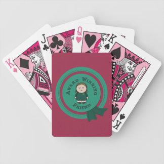 Baralho Cartões de jogo de vencimento da bicicleta do