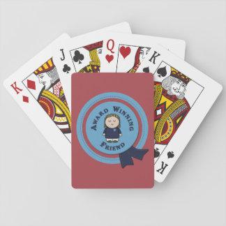 Baralho Cartões de jogo de vencimento do amigo do prêmio