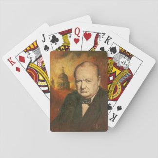 Baralho Cartões de jogo de Winston Churchill