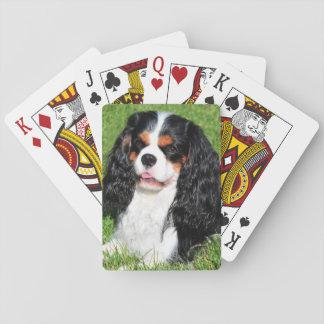 Baralho Cartões de jogo descuidados do rei Charles Tri Cor