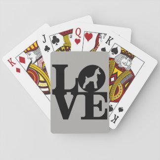 Baralho Cartões de jogo do amante do cão, caras padrão do