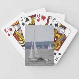 Baralho Cartões de jogo do barco de vela