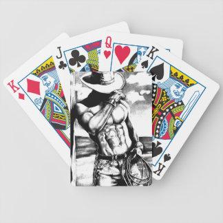 Baralho Cartões de jogo do bloco com vaqueiro considerável