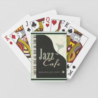 Baralho Cartões de jogo do café do jazz