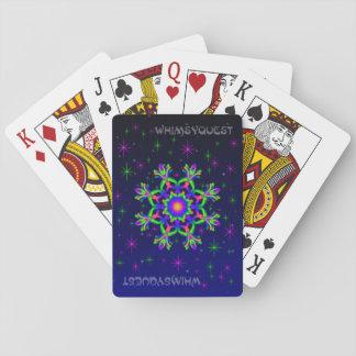 Baralho Cartões de jogo do caleidoscópio de WQ verdes &