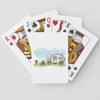 Baralho Cartões de jogo do campista do estilo do vintage