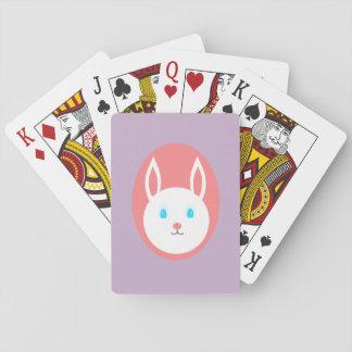 Baralho Cartões de jogo do coelhinho da Páscoa