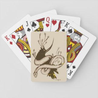 Baralho Cartões de jogo do cogumelo do corvo n do vintage