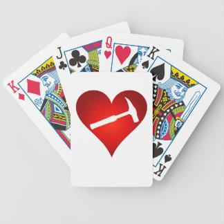 Baralho Cartões de jogo do coração do martelo da rocha
