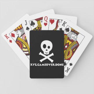 Baralho Cartões de jogo do crânio