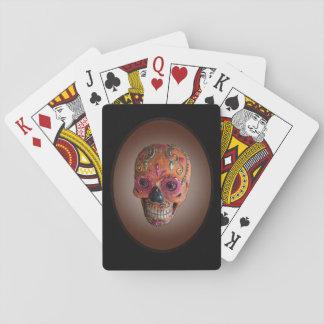Baralho Cartões de jogo do crânio do açúcar