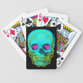 Baralho Cartões de jogo do crânio do açúcar do Aqua