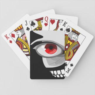 Baralho Cartões de jogo do design do sorriso do olho