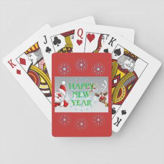 Baralho Cartões de jogo do feliz ano novo