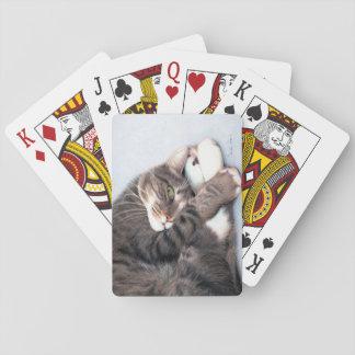 Baralho Cartões de jogo do gatinho do Peekaboo