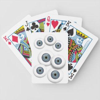 Baralho Cartões de jogo do globo ocular