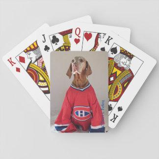Baralho Cartões de jogo do hóquei dos canadenses de Vizlsa
