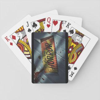 Baralho Cartões de jogo do horror do tamanho do