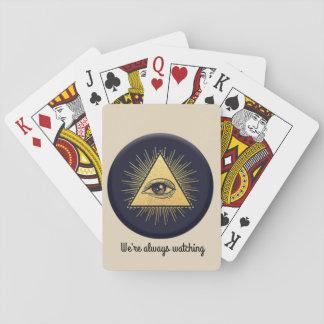 Baralho cartões de jogo do illuminati