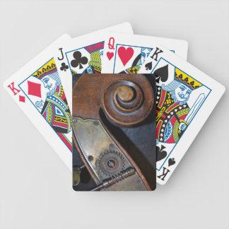 Baralho Cartões de jogo do instrumento musical
