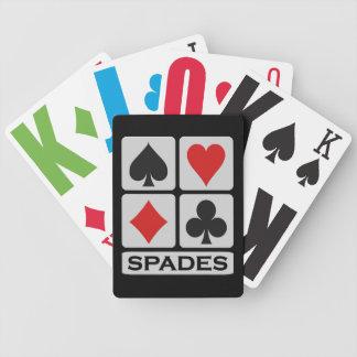 Baralho Cartões de jogo do jogador das pás