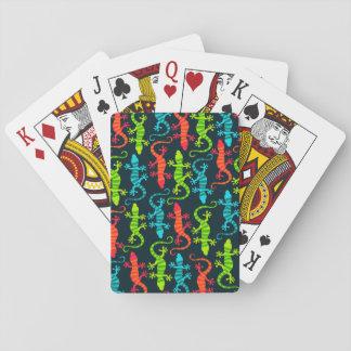 Baralho Cartões de jogo do lagarto