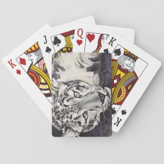 Baralho Cartões de jogo do leopardo de neve