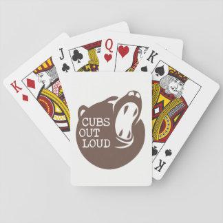 Baralho Cartões de jogo do logotipo V3 da coluna