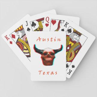 Baralho Cartões de jogo do Longhorn-Crânio de Texas o Dia