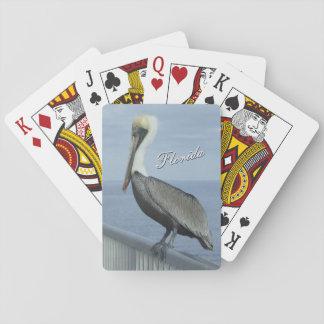 Baralho Cartões de jogo do pelicano de Florida