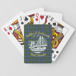 Baralho Cartões de jogo do tartan dos amigos de Halifax