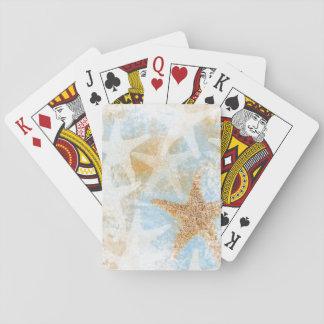 Baralho Cartões de jogo do tema | da estrela de mar da