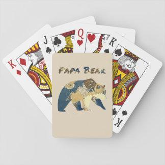 Baralho Cartões de jogo do urso da papá