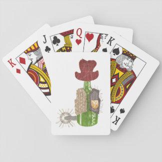 Baralho Cartões de jogo do vaqueiro da garrafa