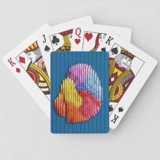 Baralho Cartões de jogo dos blocos do cérebro