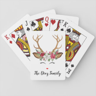 Baralho Cartões de jogo dos cervos do Natal