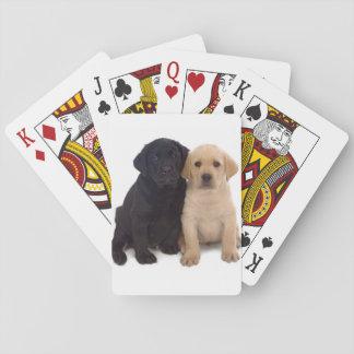 Baralho cartões de jogo dos filhotes de cachorro de