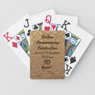 Baralho Cartões de jogo dourados da celebração do