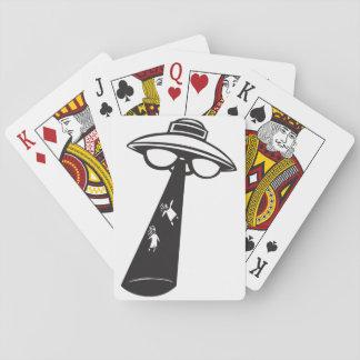 Baralho Cartões de jogo estrangeiros da abducção