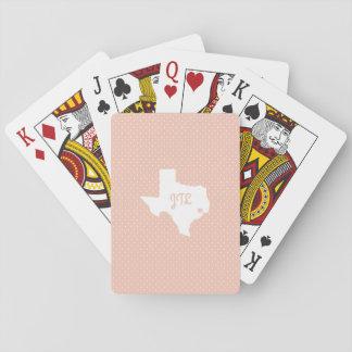 Baralho Cartões de jogo feitos sob encomenda das iniciais
