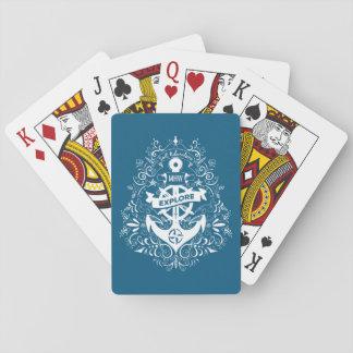 Baralho Cartões de jogo feitos sob encomenda do monograma