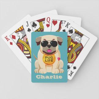 Baralho Cartões de jogo feitos sob encomenda do nome & da
