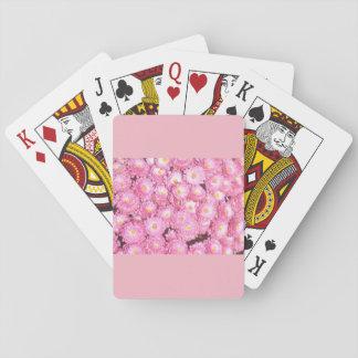 Baralho Cartões de jogo florais