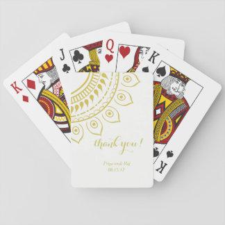 Baralho Cartões de jogo florais do design de Mendhi do
