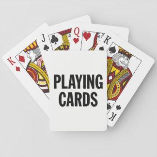 Baralho Cartões de jogo genéricos